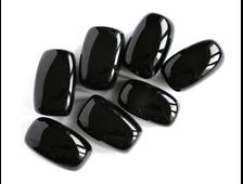 Агат чёрный, галтовка, в ассортименте (31-33 мм, 20-24 г) №16693