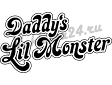 Наклейка Daddy's lil monster