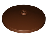 Dish 4 x 4 Inverted Radar with Solid Stud, Reddish Brown (3960 / 4541712 / 4625045)
