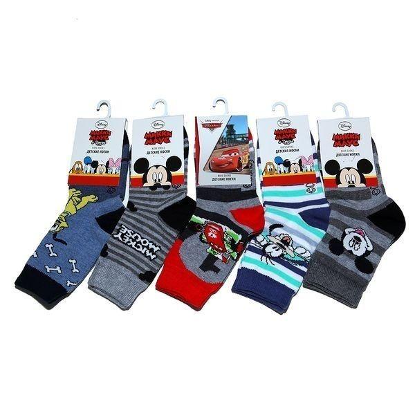 Rusocks носки детские хлопок с лайкрой для мальчиков Дисней Арт. ДI-77, 10 пар (1 упаковка)