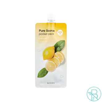 Ночная маска Missha Pure Source Pocket Pack Lemon (10мл)
