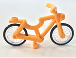 Bicycle 1-Piece Wheels, Bright Light Orange (4719c02)