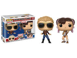 Купить Фигурка Funko POP! Vinyl 2-Pack: Capcom vs. Marvel: Captain Marvel vs Chun-Li (Exc) 23978