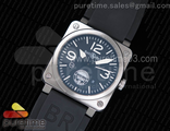 BR 03-92 SS GIGN Special Edition Black Dial on Black Rubber Strap