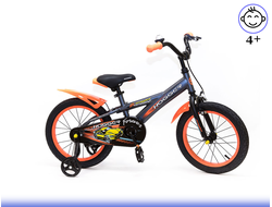 Велосипед HOGGER 16 Orange gray Kiddy-bikes от 3 до 6 лет