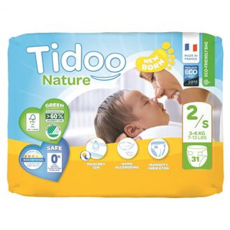 Подгузники Tidoo Nature Размер 2 /S (3-6 кг)