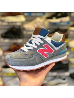 NEW BALANCE 574 GREY RED BLUE ЖЕНСКИЕ