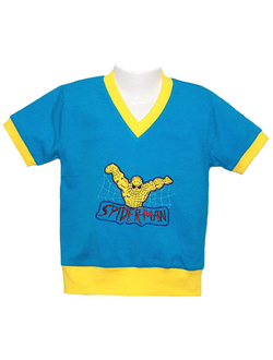 Футболка для мальчика (Артикул 2148-342) цвет лазурный