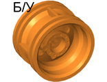 ! Б/У - Wheel 30.4mm D. x 20mm with No Pin Holes and Reinforced Rim, Orange (56145 / 4495219 / 4539910 / 6207477) - Б/У