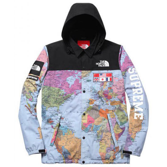 Куртка Supreme North Face карта мира