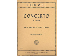 Hummel. Concerto F-dur : for bassoon and piano