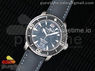 Fifty Fathoms Grande Date Black Titanium