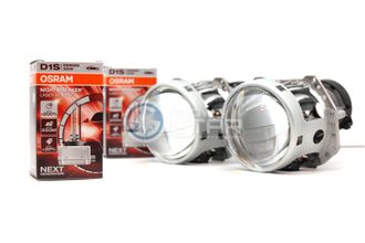 Комплект Hella 3R с ксеноновыми лампами D1S OSRAM 66140XNL Night Breaker Laser Xenarc (+200%)