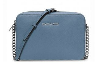 Сумка Michael Kors Jet Set large Saffiano Crossbody (Синяя)