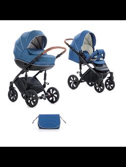 Универсальная коляска Tutis Zippy Mimi Style (2 в 1) Цвет 242 Джинсовый лен/Темно Голубой
