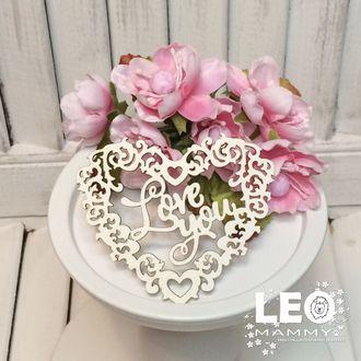 LM -L01 - сердечко ажурное с надписью