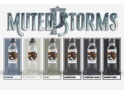 "Poch Muted Storm Set 6 - ""World Famous Ink"" (ОРИГИНАЛ США 6 шт по 1OZ - 30 МЛ)"