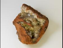 Адамин кристаллы на породе (лимонит), Мексика (53*38*23 мм, 47 г) №20781