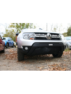 Premium защита радиатора для Renault Duster Authentique Expression (2015-) к-т 3ч без накл. Код: mh105