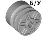 ! Б/У - Wheel 18mm D. x 14mm with Axle Hole, Fake Bolts and Shallow Spokes, Light Bluish Gray (55982 / 4490127) - Б/У
