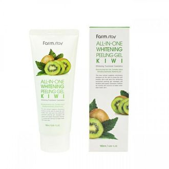 284774 FarmStay ALL-IN-ONE WHITENING PEELING GEL KIWI Пиллинг гель с экстратком киви 180 мл