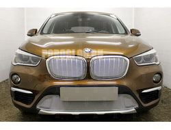 Защита радиатора BMW X1 II F48 2015- chrome низ PREMIUM