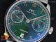 Portuguese Real PR IW5001 SS YLF Green Dial RG Makers on SS Mesh Bracelet