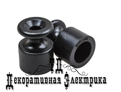 Изолятор пластиковый, Bironi, цвет: чёрный