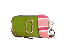 MARC JACOBS Snapshot Leather Camera Bag Green