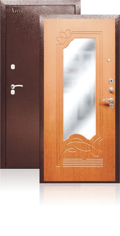 Входная Металлическая дверь ДА-13  ЗЕРКАЛО