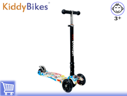 САМОКАТ SCOOTER COLOR ZH (БЕЛЫЙ ГРАФФИТИ) Kiddy-bikes