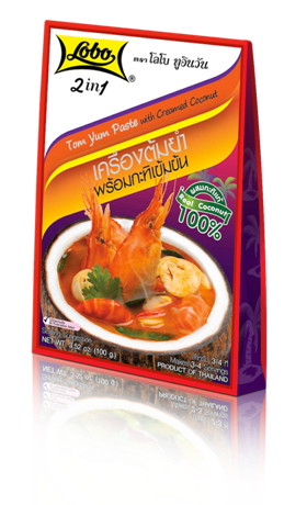 Tom Yum Paste with Creamed Coconut (Lobo) 100 g