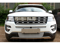 Защита радиатора Ford Explorer 2015-2018 chrome середина PREMIUM
