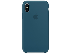 Чехол-накладка Apple Silicone Case iPhone Cosmos Blue