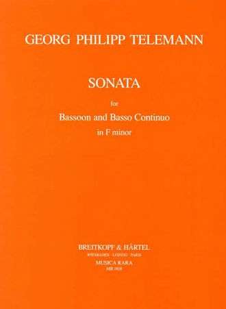 Telemann. Sonata f minor for bassoon and piano