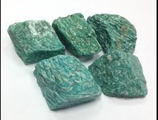 Амазонит, необработанный образец в ассортименте, Россия, Кольский полуостров (40-80 мм, 50-85 г) №15914