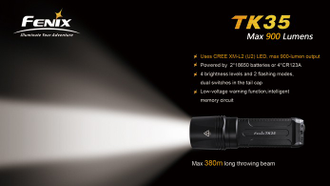Фонарь Fenix TK35 Ultimate Edition 2015 Cree XHP-50