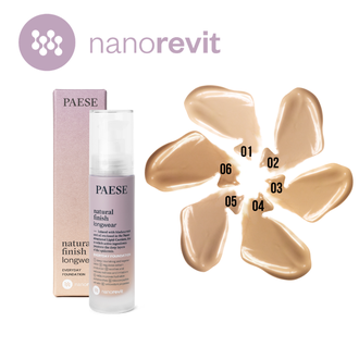 Тональный крем Natural Finish Longwear (01) NANOREVIT Foundation Paese