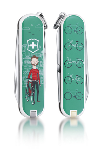 "Нож-брелок VICTORINOX Classic ""Ride Your Bike"", 58 мм, 7 функций"