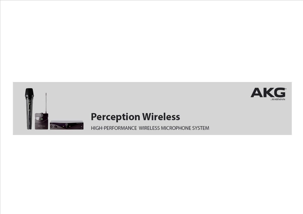 Серия микрофонов AKG Perception Wireless 45 Vocal Set
