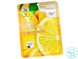 Маска тканевая 3W Clinic Fresh Lemon Mask Sheet с экстрактом лимона
