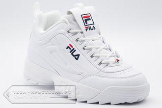 Купить кроссовки Fila Disruptor 2 мужские женские белые кожаные арт ... 4833944b07bdd