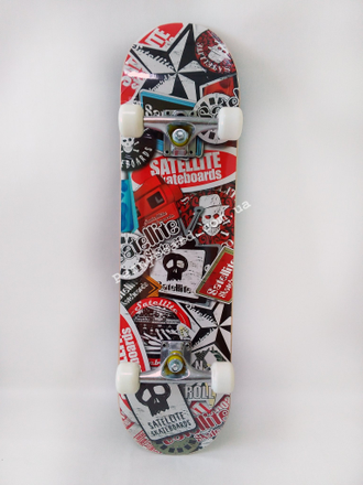 Скейтборд  Satellite skateboards Red