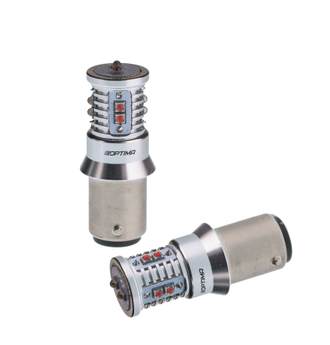 Optima Premium W21/5W MINI CREE XB-D CAN 50W 5100k 12-24V (красная)