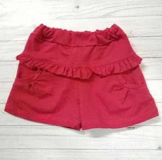 Шорты для девочки (Артикул 2125-362) цвет красный