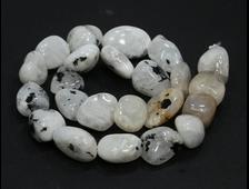 Бусина Лунный камень, группа Полевые шпаты, галтовка 13-20 мм (1 шт) №21257
