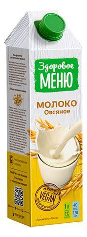 c5387e0fda35 Овсяное молоко Здоровое Меню 1л