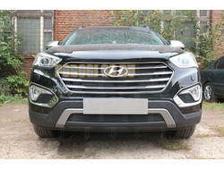 Защита радиатора Hyundai Grand Santa Fe I 2013-2015 black