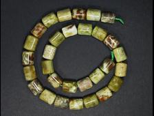 Бусина Опал желтый, цилиндр 13*10 мм (1 шт) №19042