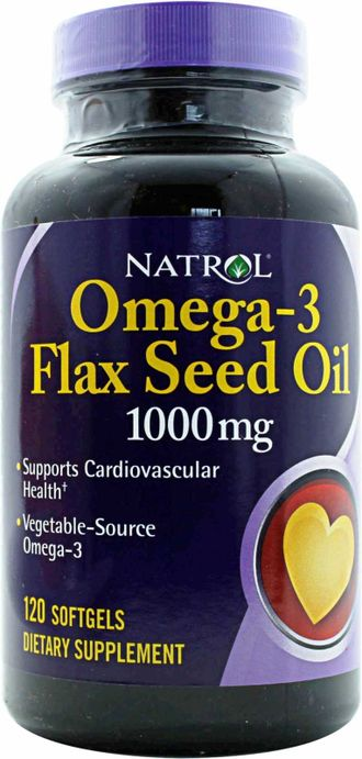 Flax Seed Oil 120 Softgel-Natrol